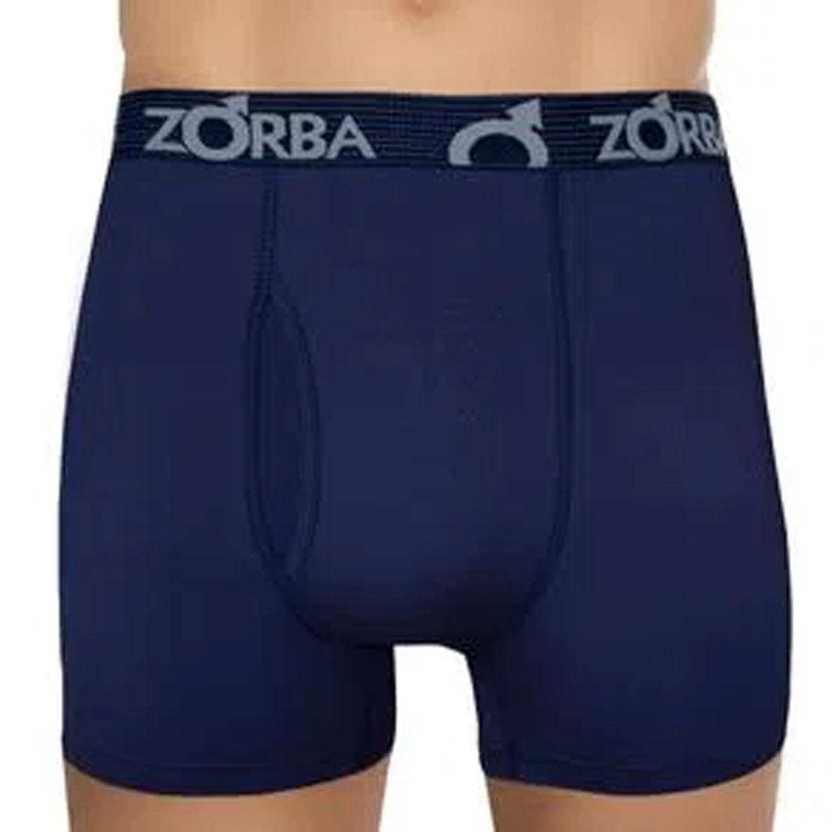 Cueca masculina em algodão modelo boxer com abertura Zorba