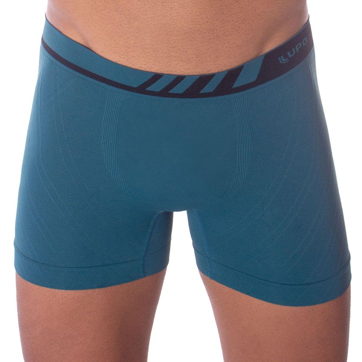 Cueca masculina para adulto modelo boxer sem costura em microfibra Lupo