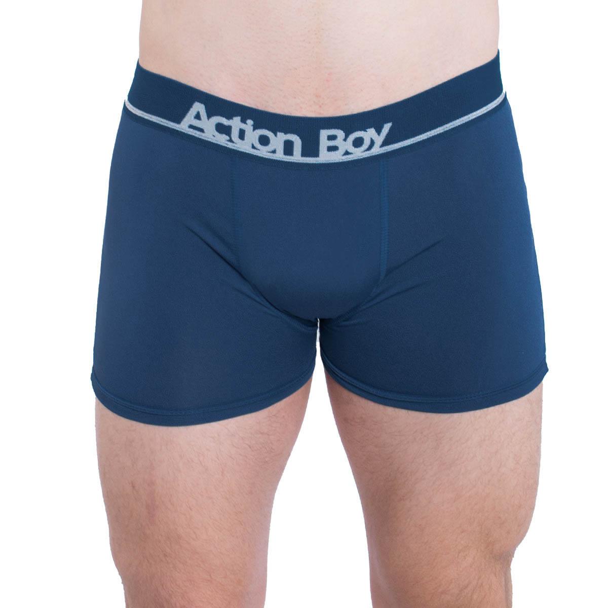 Cueca modelo boxer em microfibra Action Boy