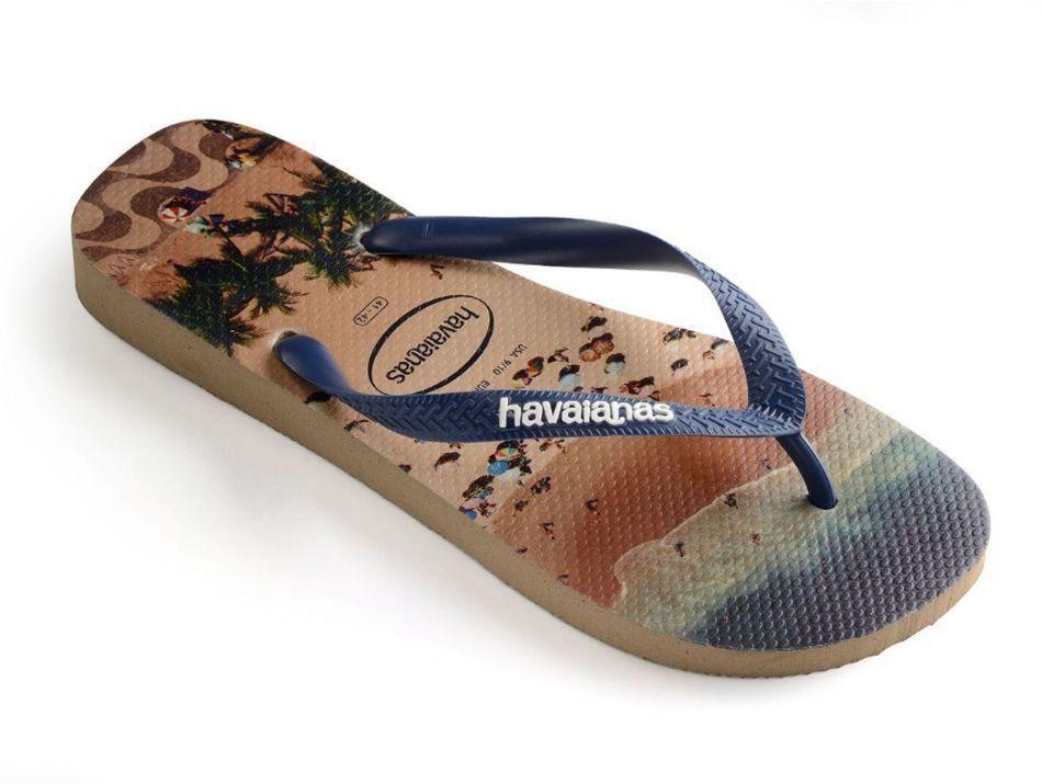 Chinelo Havaianas Masculina Hype Praia Rose Gold Adulto