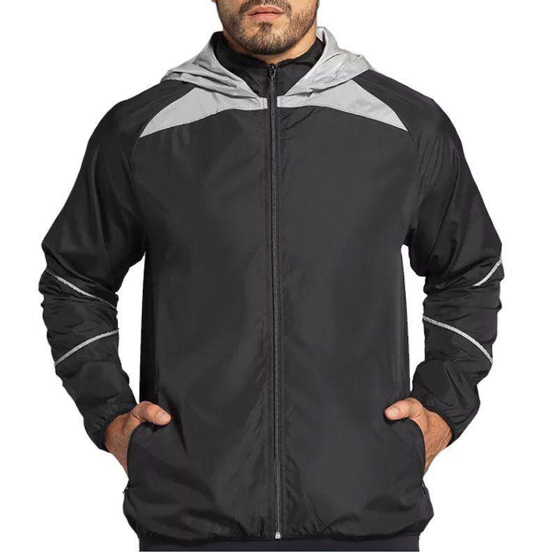 Jaqueta manga longa masculina refletiva para academia e corrida Lupo .