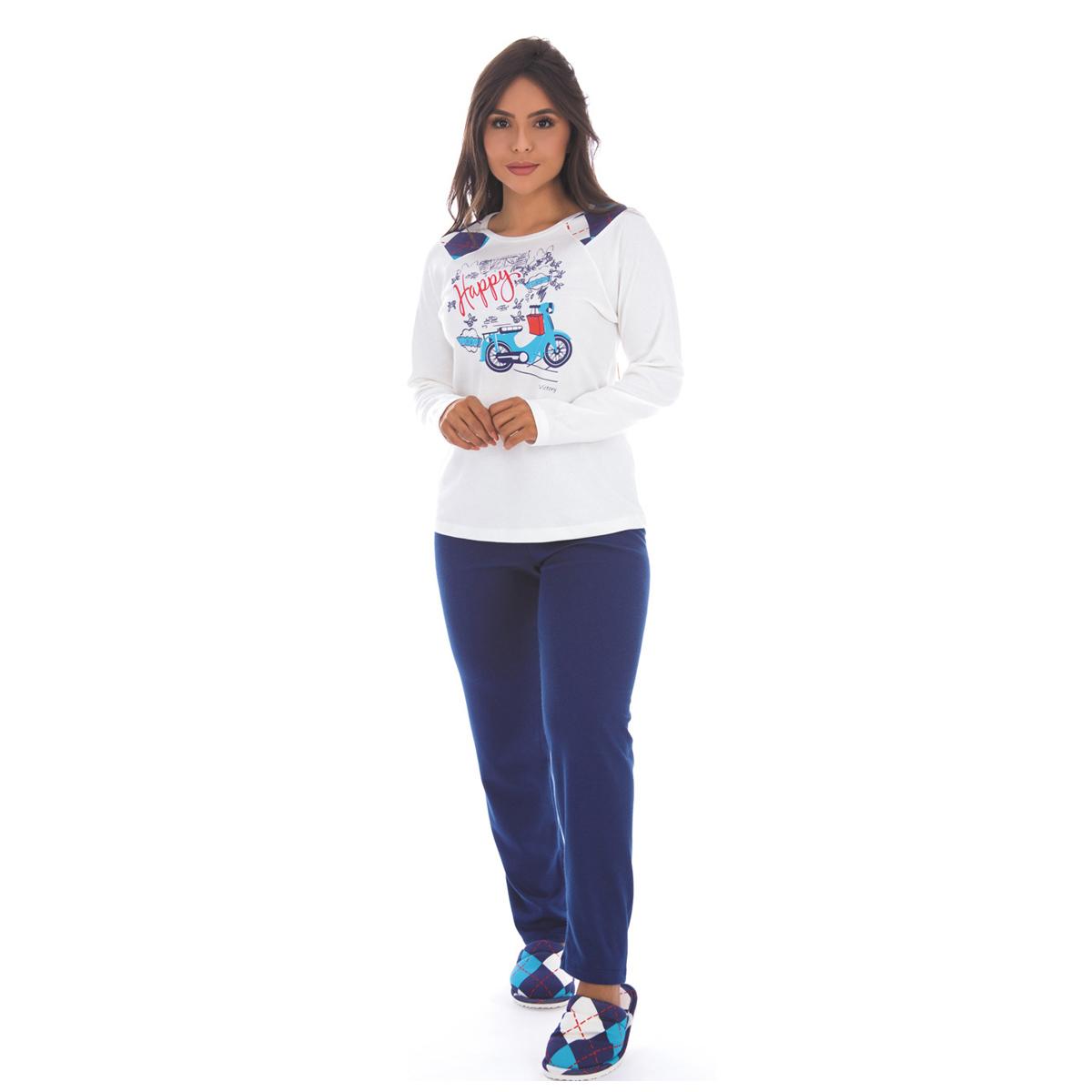 Kit 12 pijamas de inverno adulto Victory