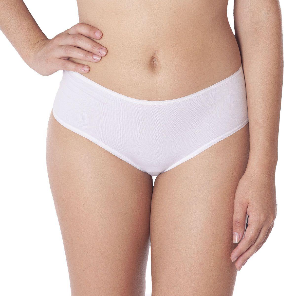 Kit 2 Calcinhas feminina modelo tanga com cintura alta em algodão Liebe -