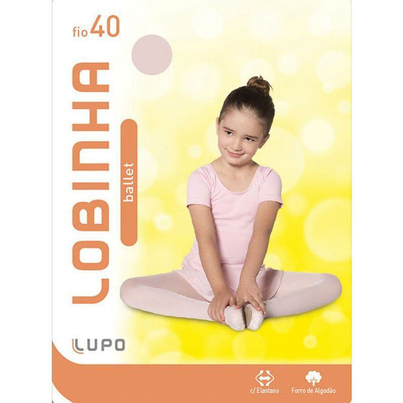 Kit 3 Meia calça infantil feminina fio 40 Lupo Lobinha