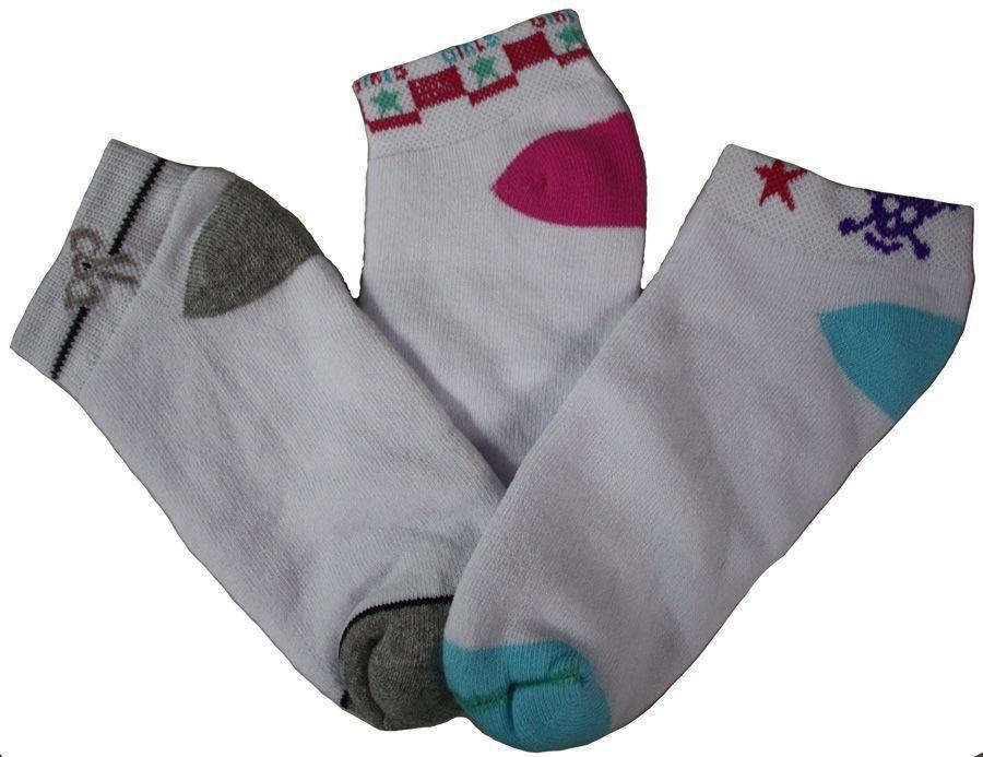 KIT 3 meias femininas cano curto Pari Passo