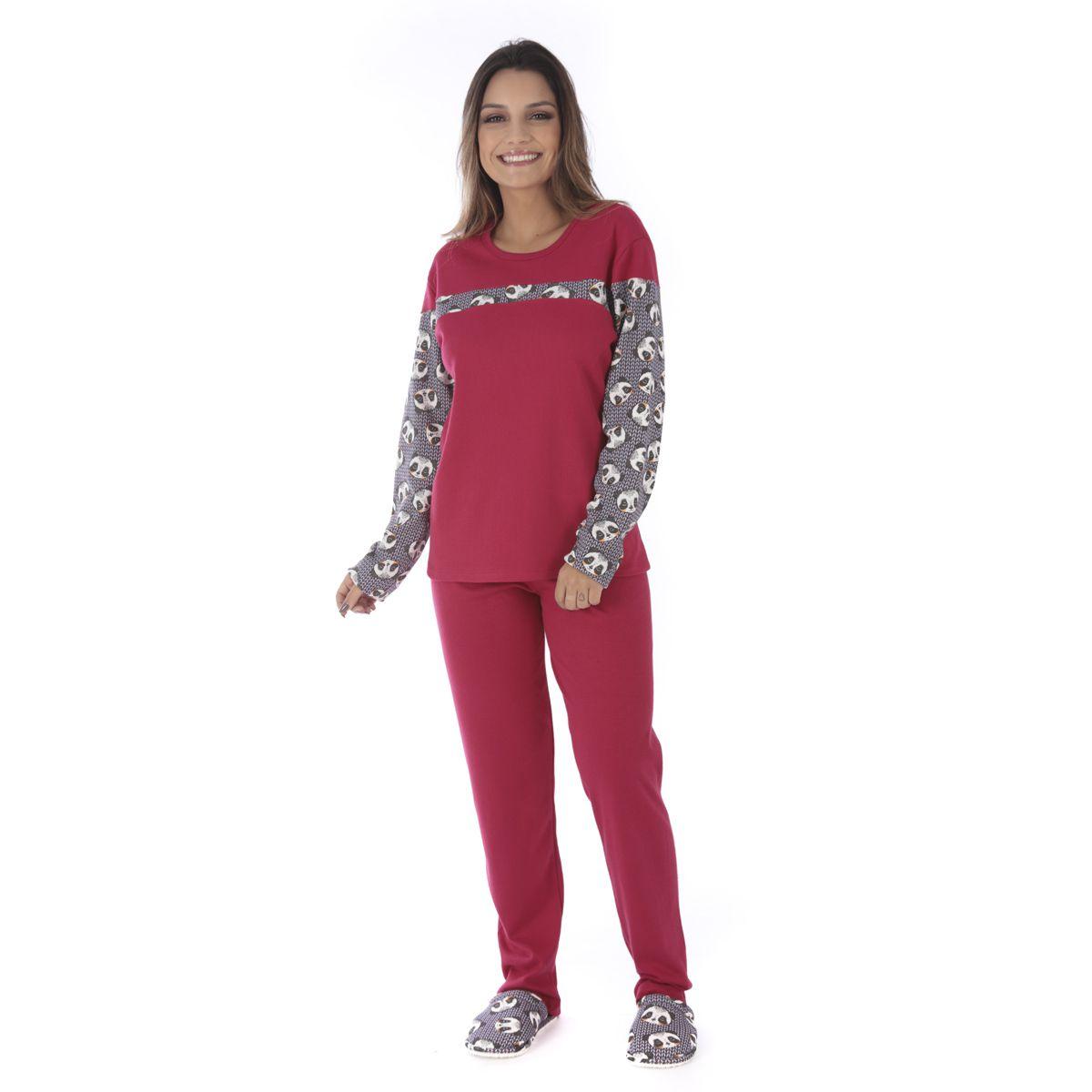 Kit 5 pijamas femininos de inverno Victory