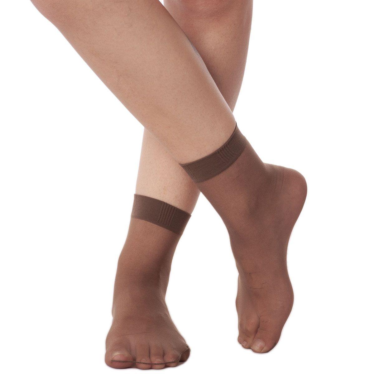 Kit 6 meias feminina fio 20 soquete Loba Lupo