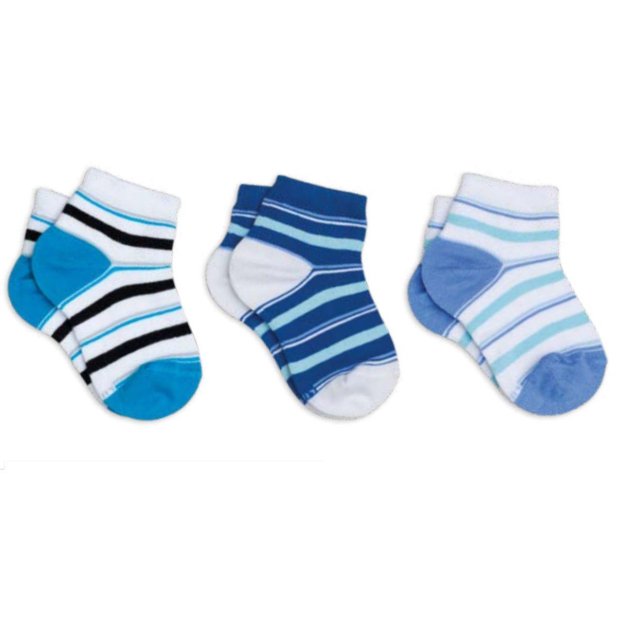 Kit 6 meias Lupo infantil masculina cano curto .