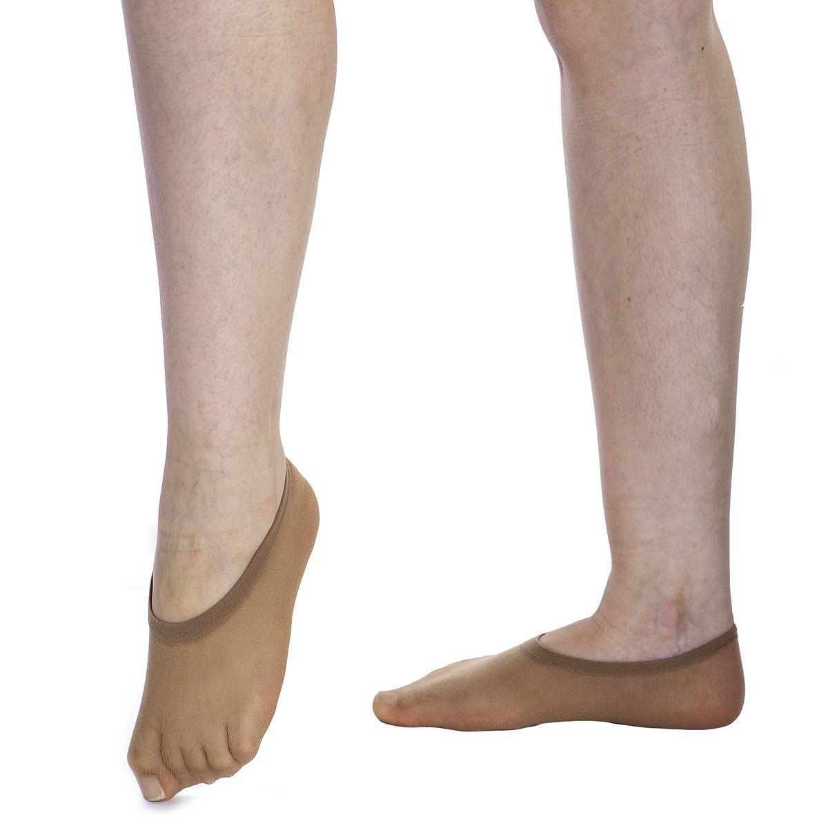 Kit 6 PARES meias sapatilha feminina soquete invisível fio 40  Loba Lupo