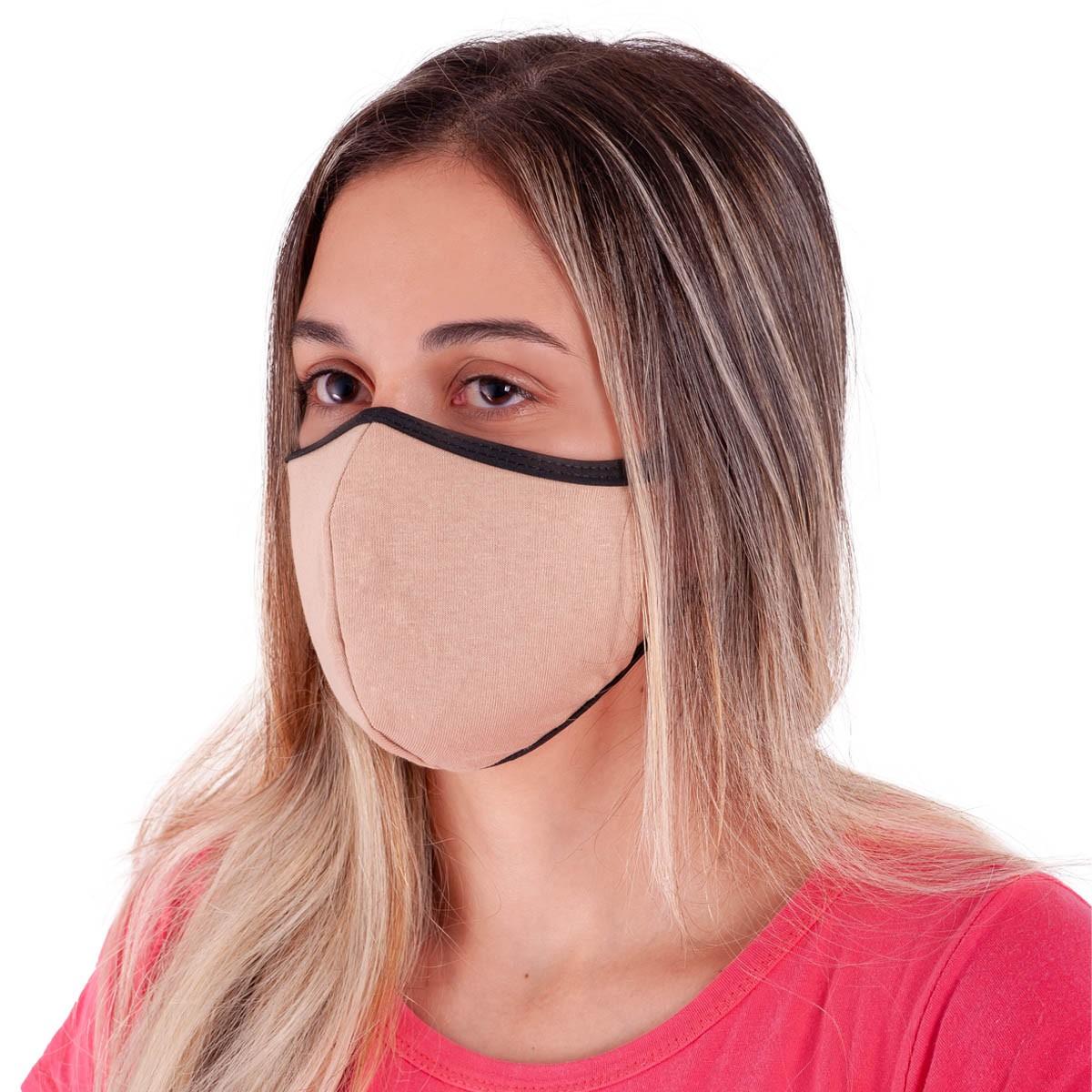 Kit com 100 Máscaras de Proteção NINJA em Algodão Reutilizável