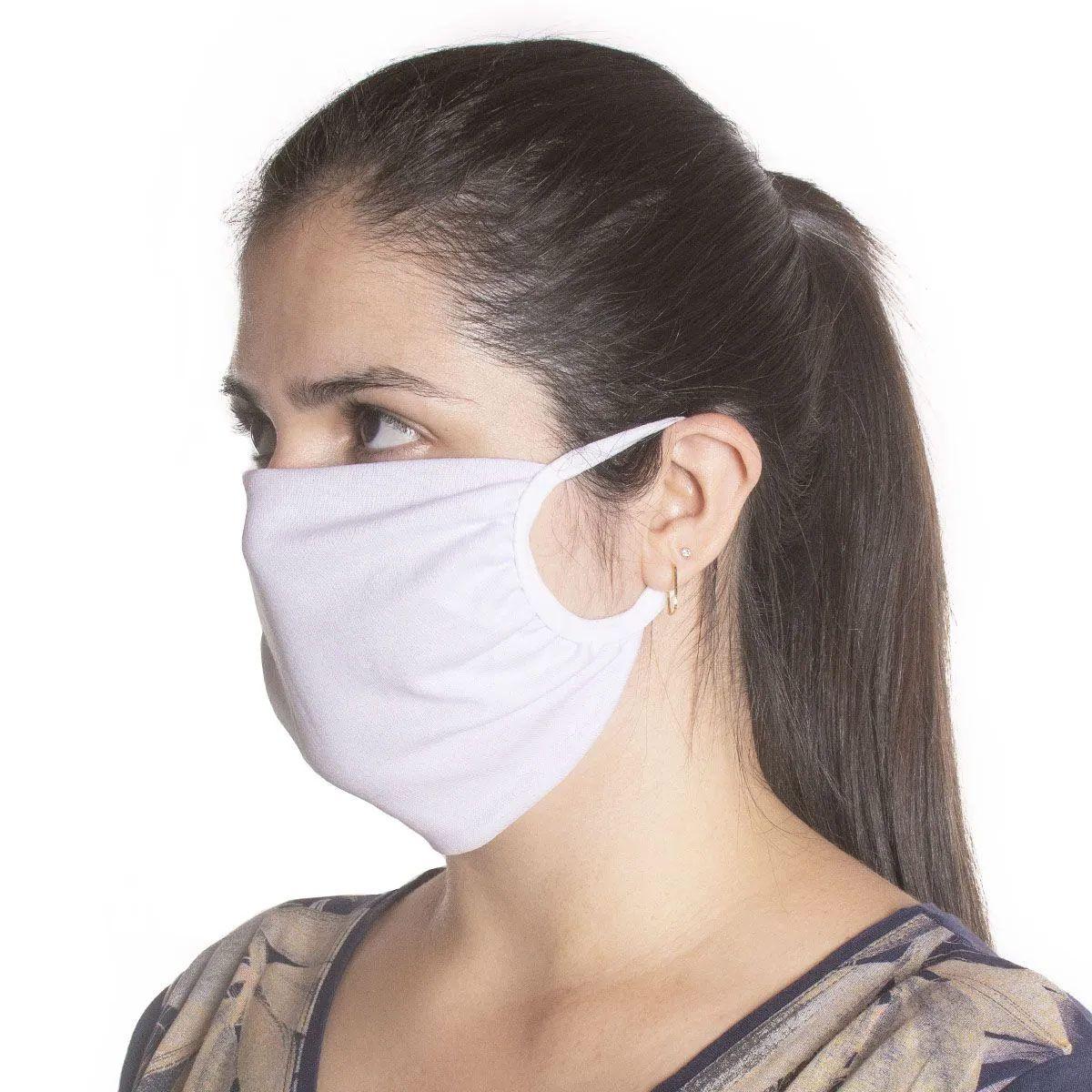 Kit com 100 Unidades de Máscaras de Proteção em Algodão Reutilizável