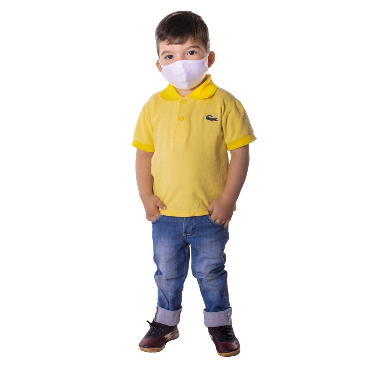 Kit com 10 Máscaras INFANTIL de Proteção Ninja em Algodão Reutilizável