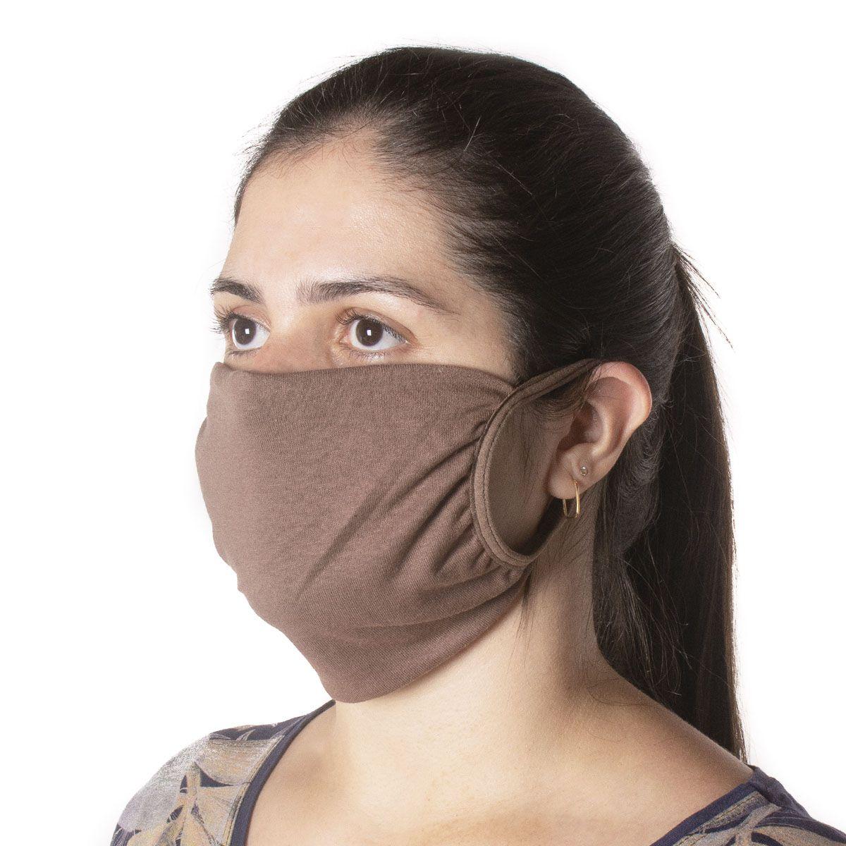 Kit com 10 Unidades de Máscaras de Proteção em Tecido de Algodão Reutilizável