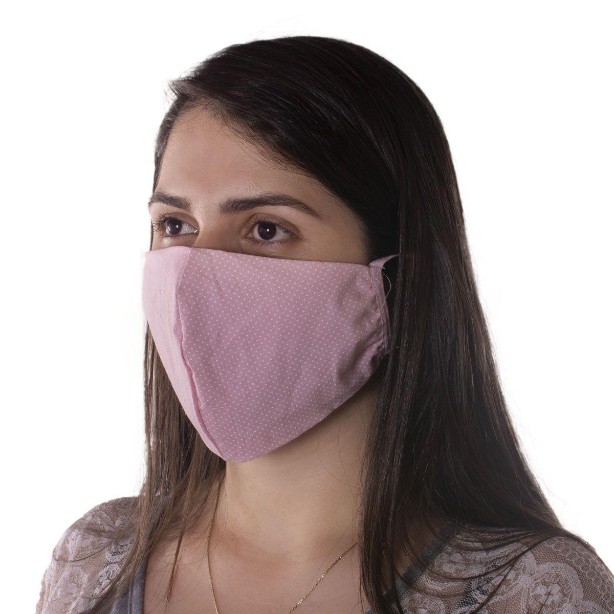 Kit com 10 Unidades de Máscaras de Proteção Reutilizável em tricoline