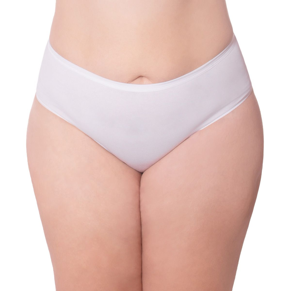 Kit com 2 calcinhas modelo tanga cintura alta algodão Econfort