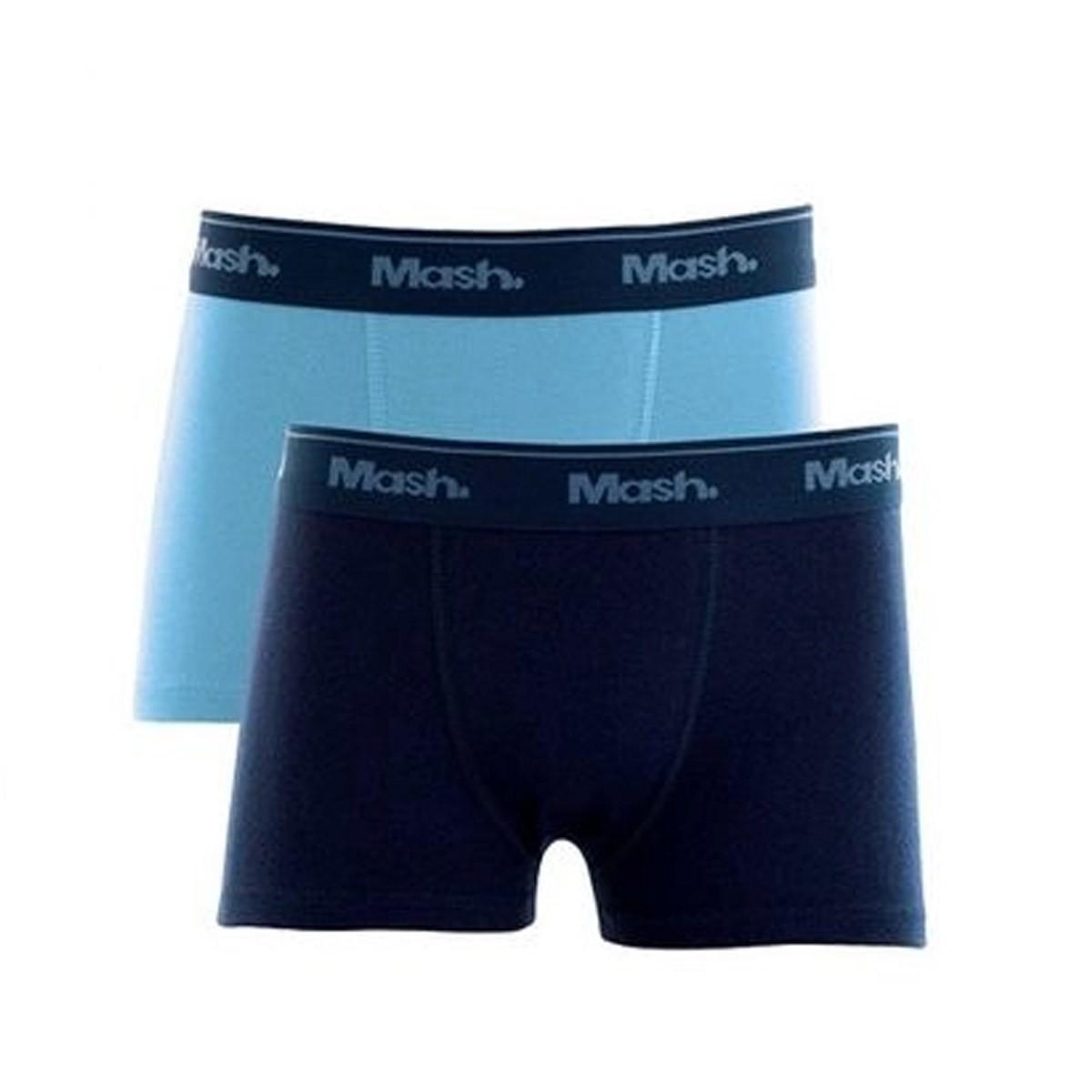 Kit com 2 Cuecas infantil para meninos em algodão boxer Mash