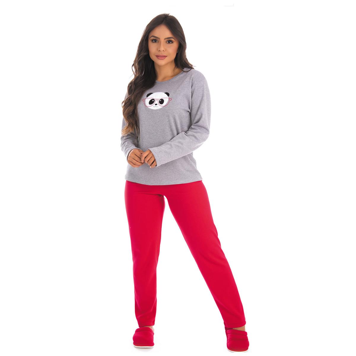 Kit com 2 Pijamas de Inverno Femininos Longos Victory