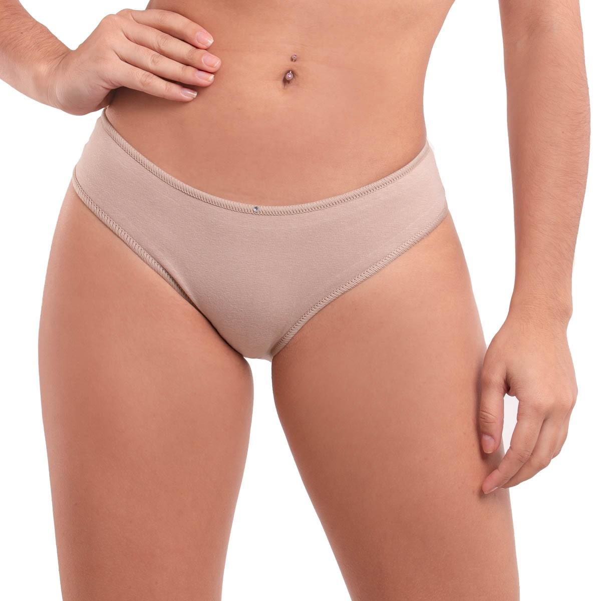 KIT com 3 calcinhas modelo tanga em algodão Diva Donna