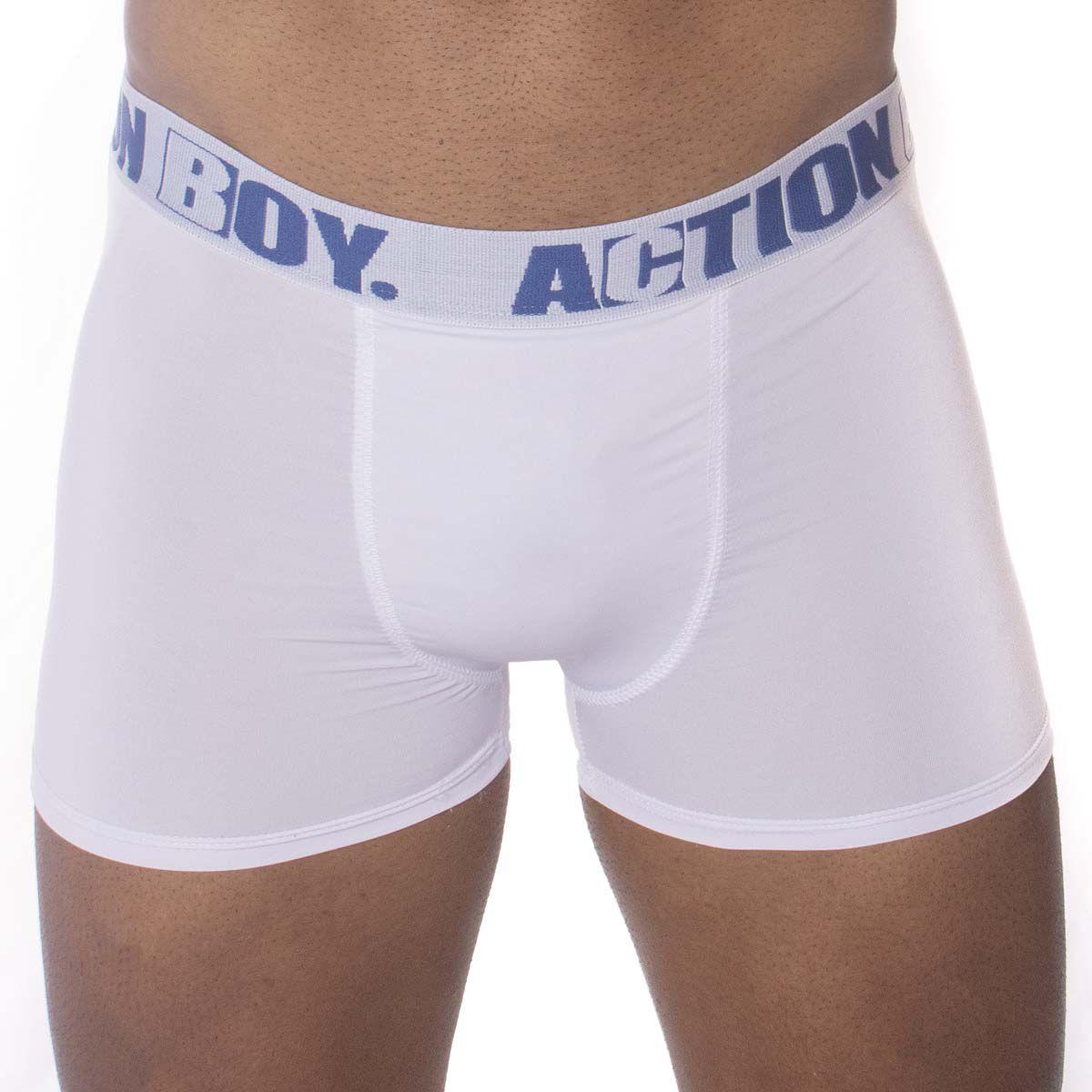 Kit com 3 Cueca Masculina Boxer Algodão Marca Action Boy