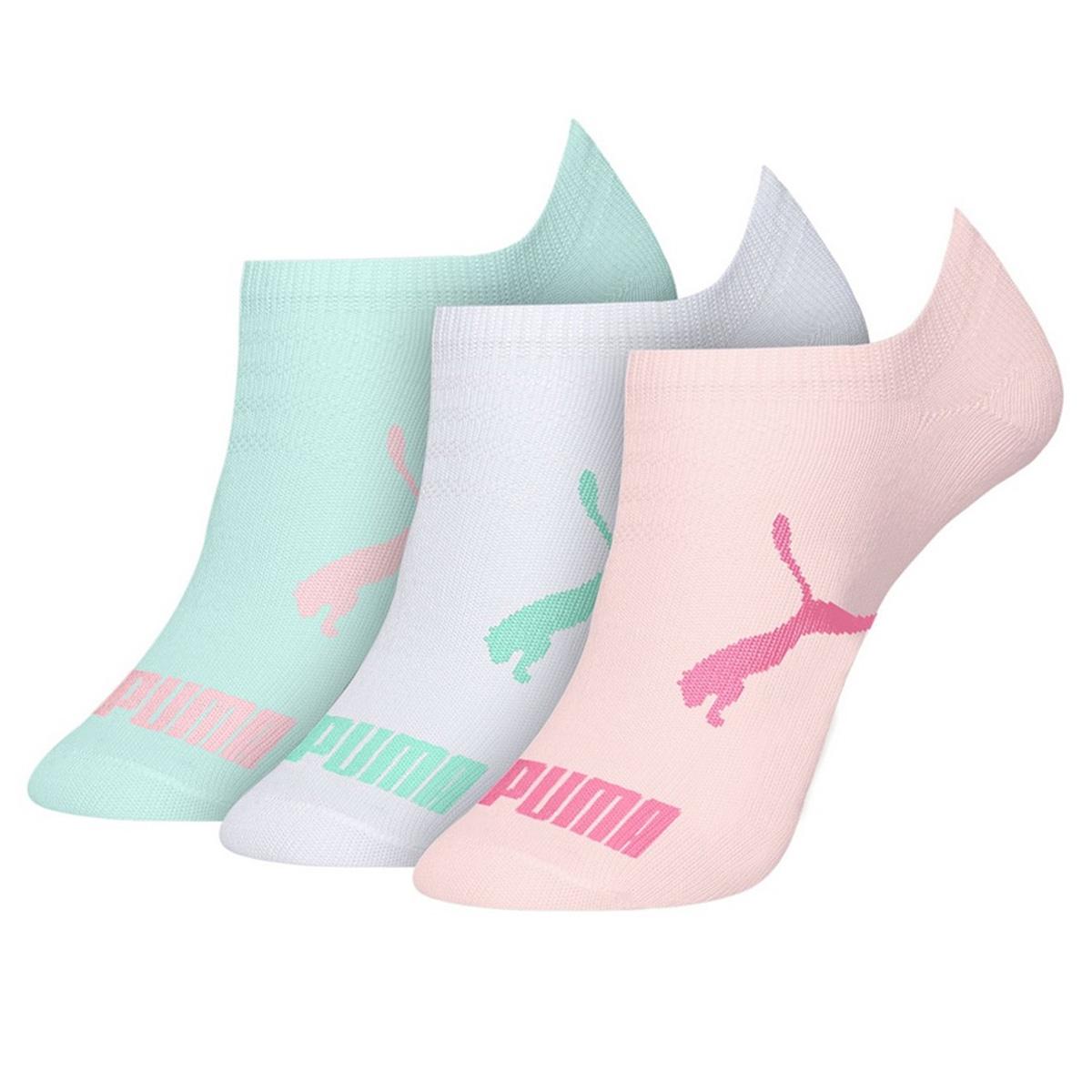 Kit com 3 meias infantil modelo sapatilha Puma