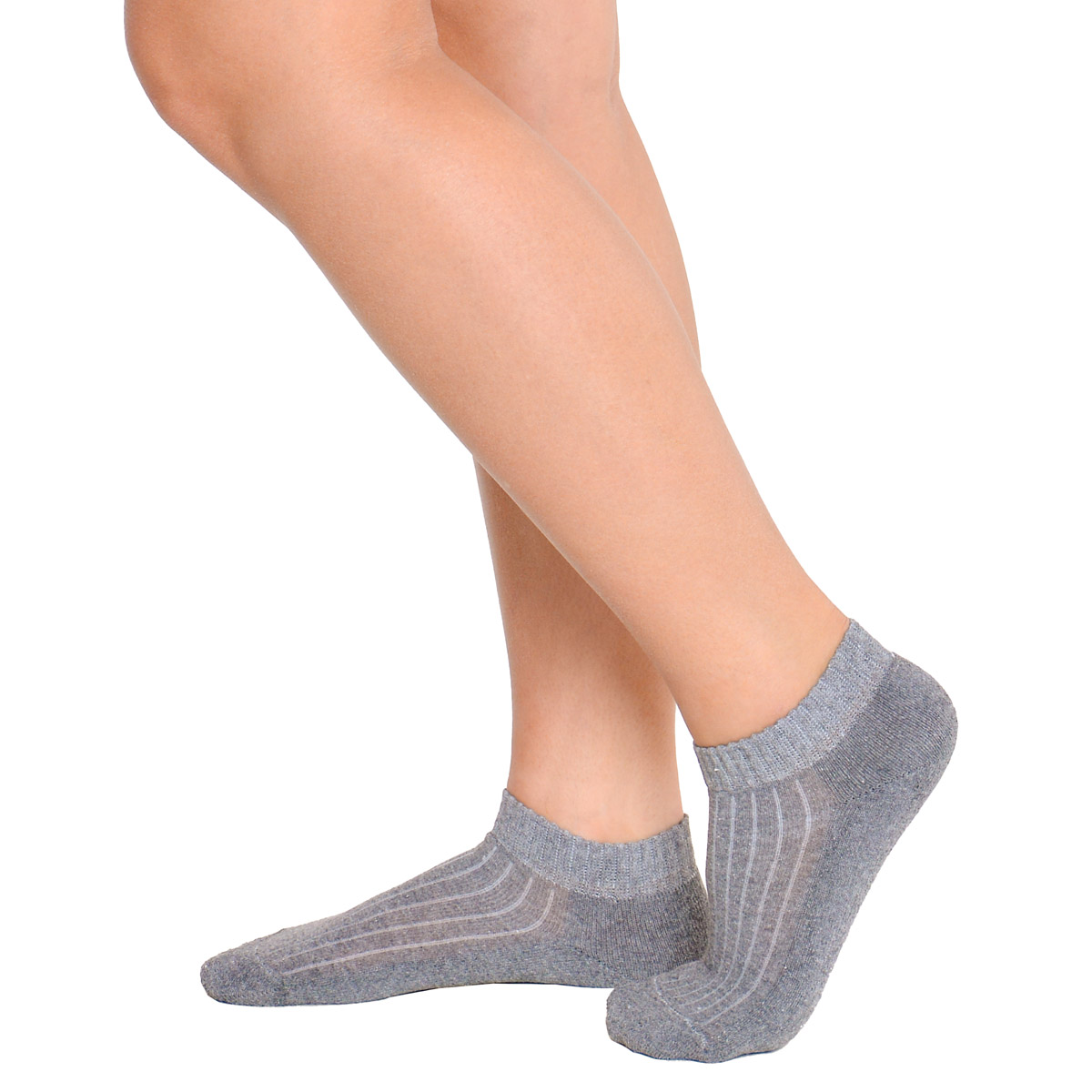 KIT com 3 meias modelo cano curto atoalhada feminina Trifil