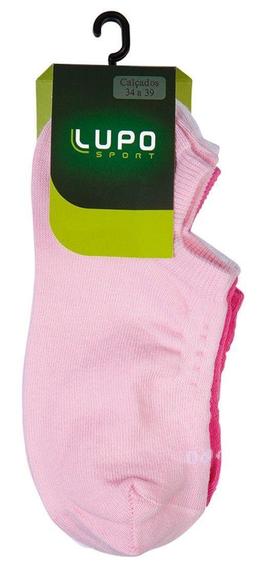 KIT com 3 meias Soquete Feminina Lupo soquete