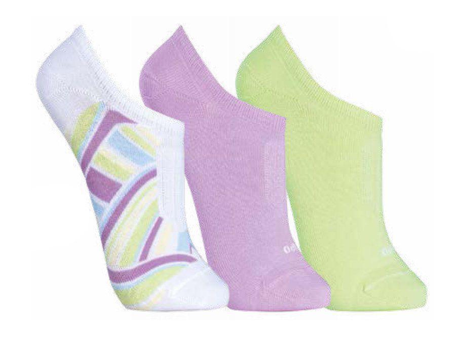 KIT com 3 meias Soquetes feminina Lupo