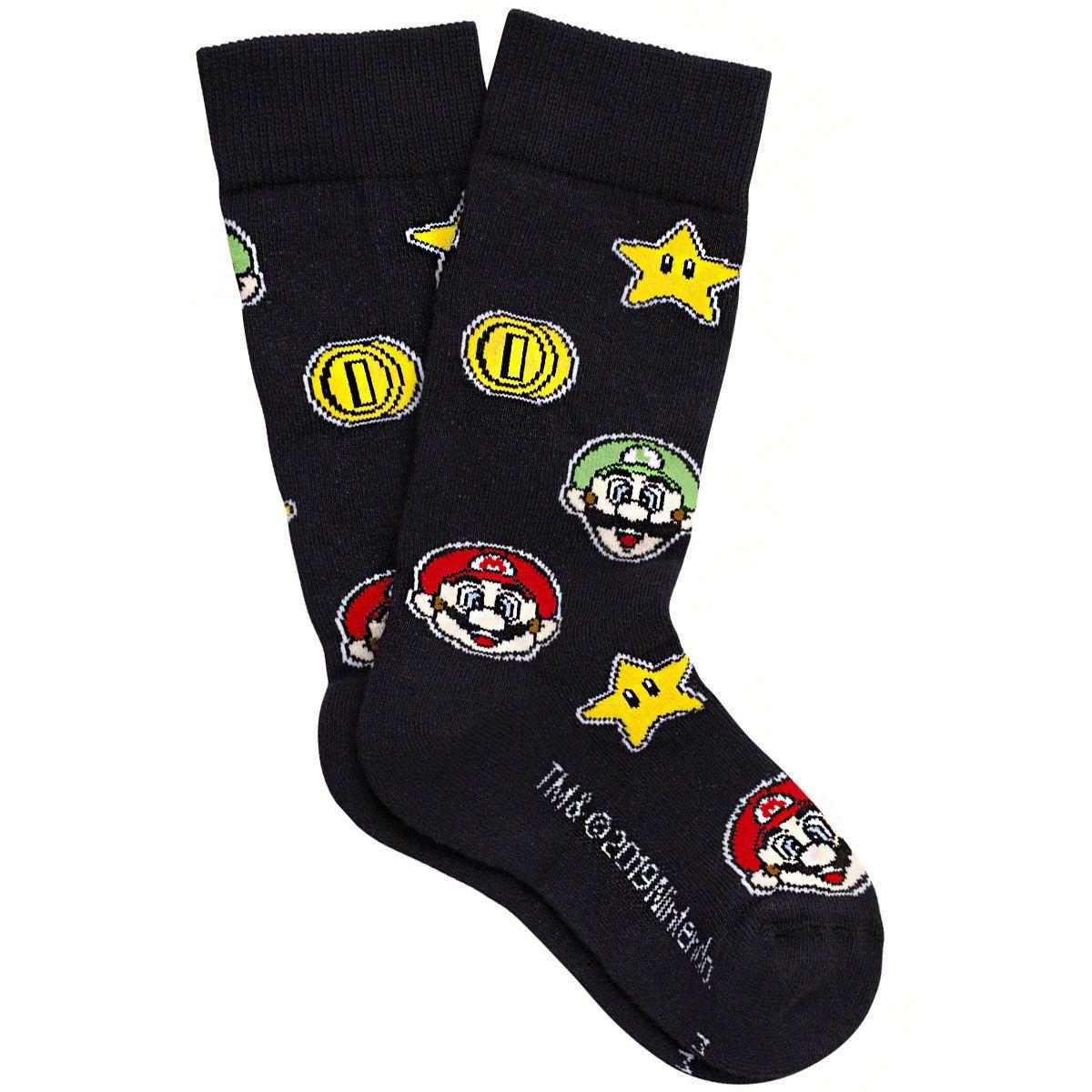 Kit com 3 pares de meias em algodão Lupo Urban Super Mario Bros