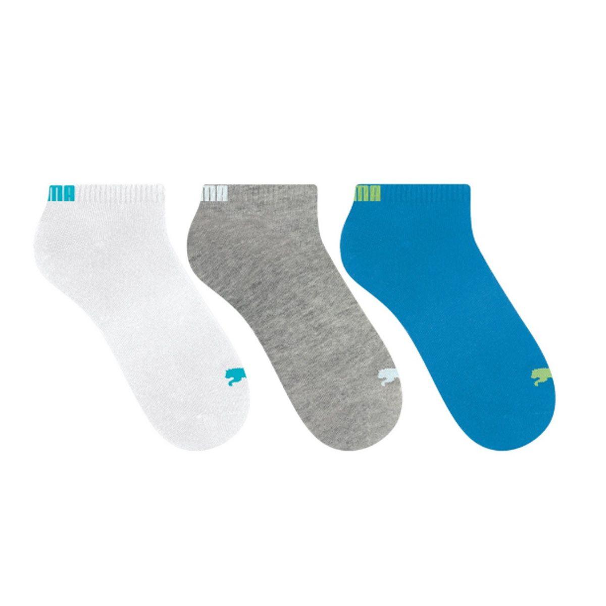 Kit com 3 pares de meias sapatilha esportiva masculina Puma