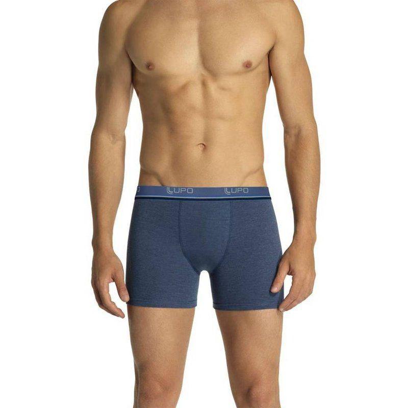 Kit Com 6 Cuecas Boxer Cotton Confort Lupo