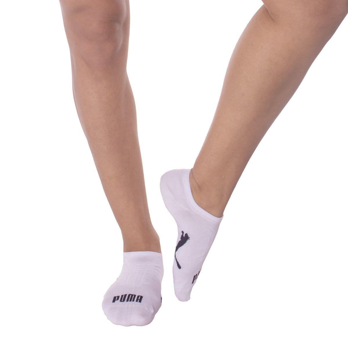 Kit de 3 pares de meias sapatilha esportiva feminina Puma