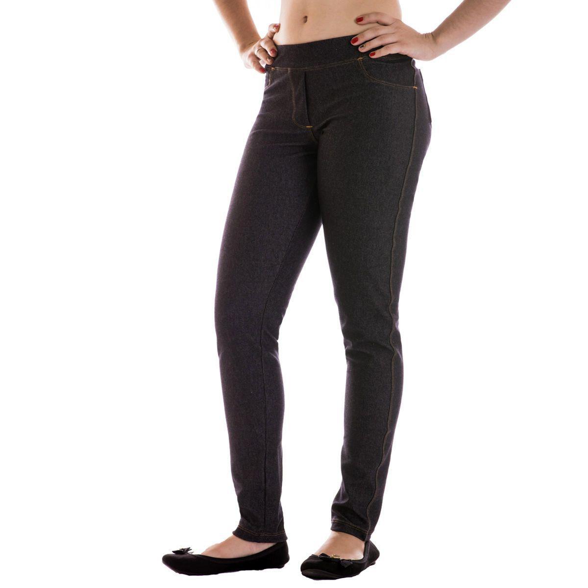 Legging Jeans Lupo Loba - Calça Leg que Imita Jeans