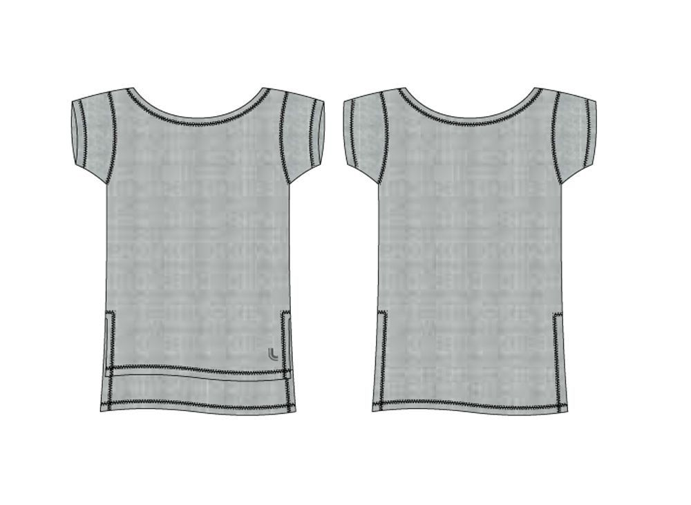 Camiseta feminina manga curta roupa academia Lupo 77013 -