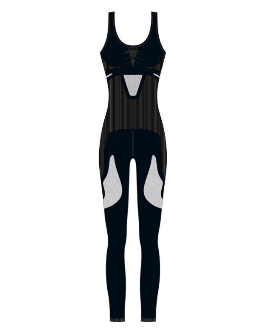 Macacão longo feminino costas nadador para academia fitness Lupo -