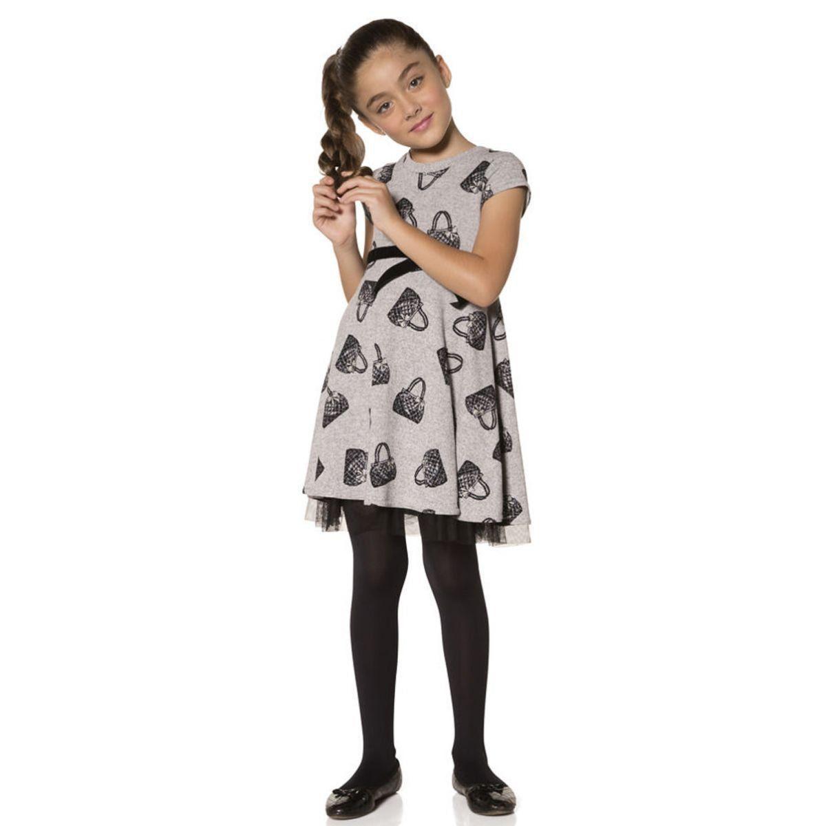 Meia calça infantil fio 40 menina Kit 3 Lobinha Lupo