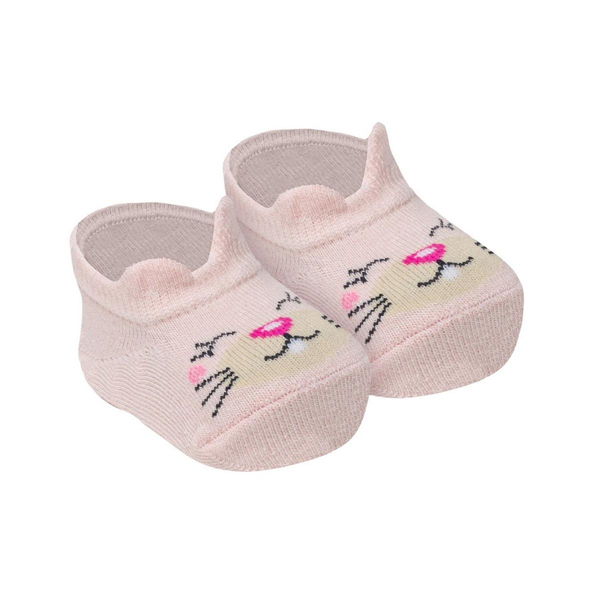 Meia de bebê modelo sapatilha em algodão Selene