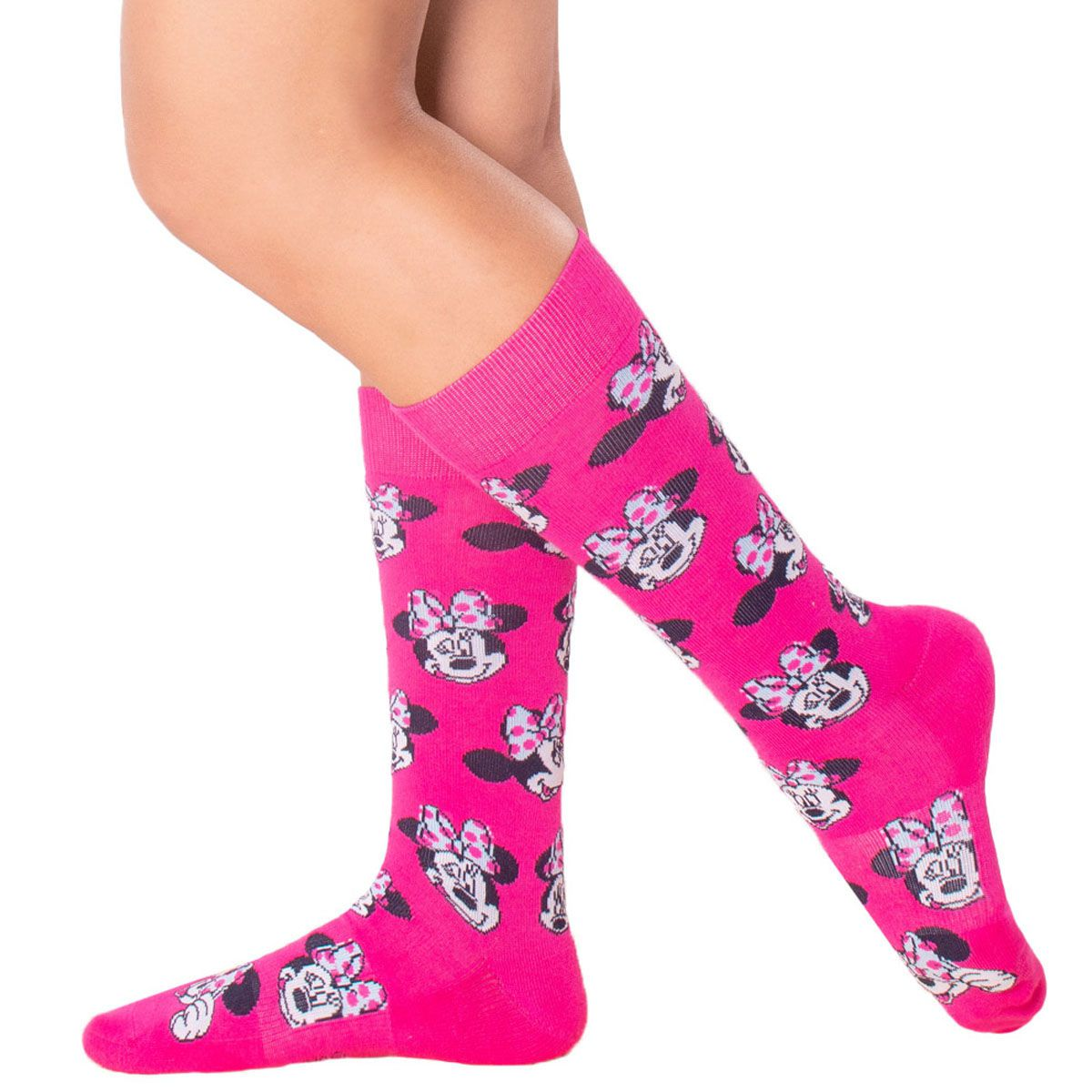 Meia Estampa Minnie Lupo Urban Disney Classics .