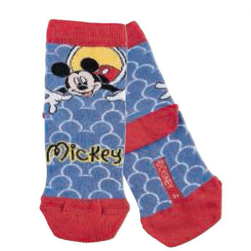 Meia infantil masculina cano curto Mickey  Lupo -