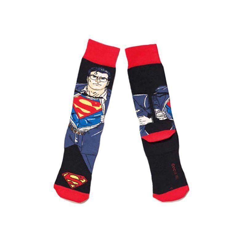 Meia Lupo Urban Cano Alto Canela Estampada Superman Clark Kent Ref 16913-001