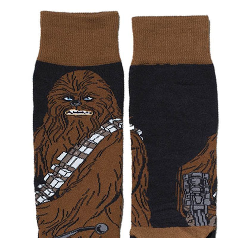 Meia Lupo Urban Cano Alto Estampada Star Wars Chewbacca -
