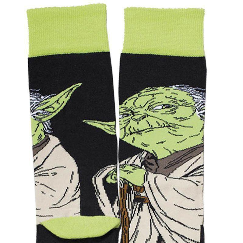Meia Lupo Urban Cano Alto Estampada Star Wars Yoda Ref 16907-009