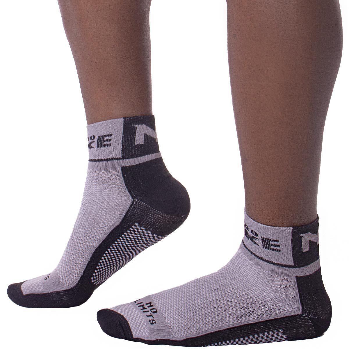 Meia para ciclista masculina cano curto em microfibra Apollo