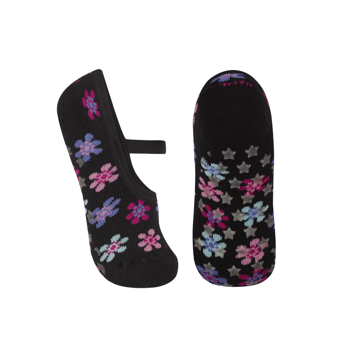 Meia sapatilha antiderrapante infantil para menina Trifil