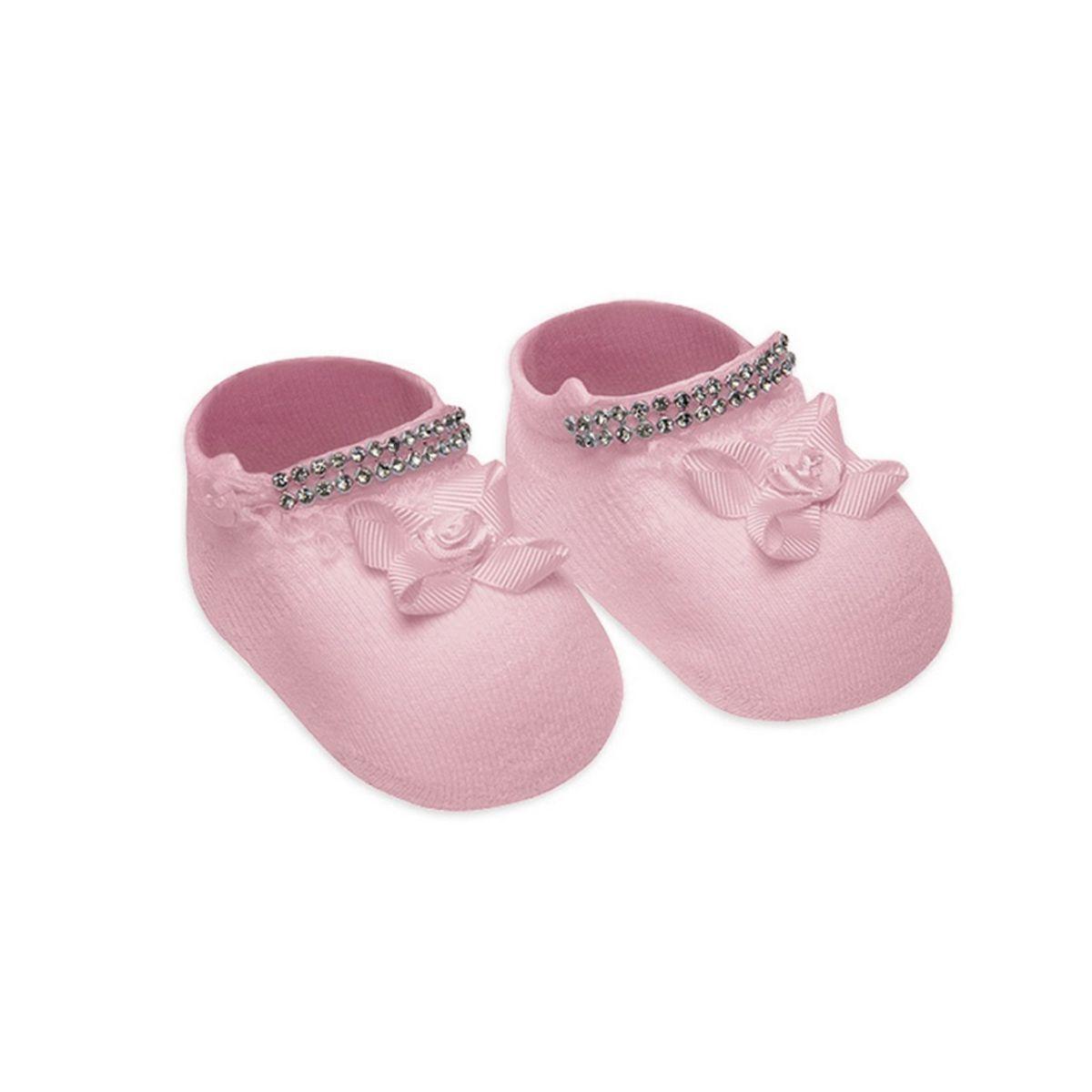 Meias sapatinho para recém nascidos de menina Selene