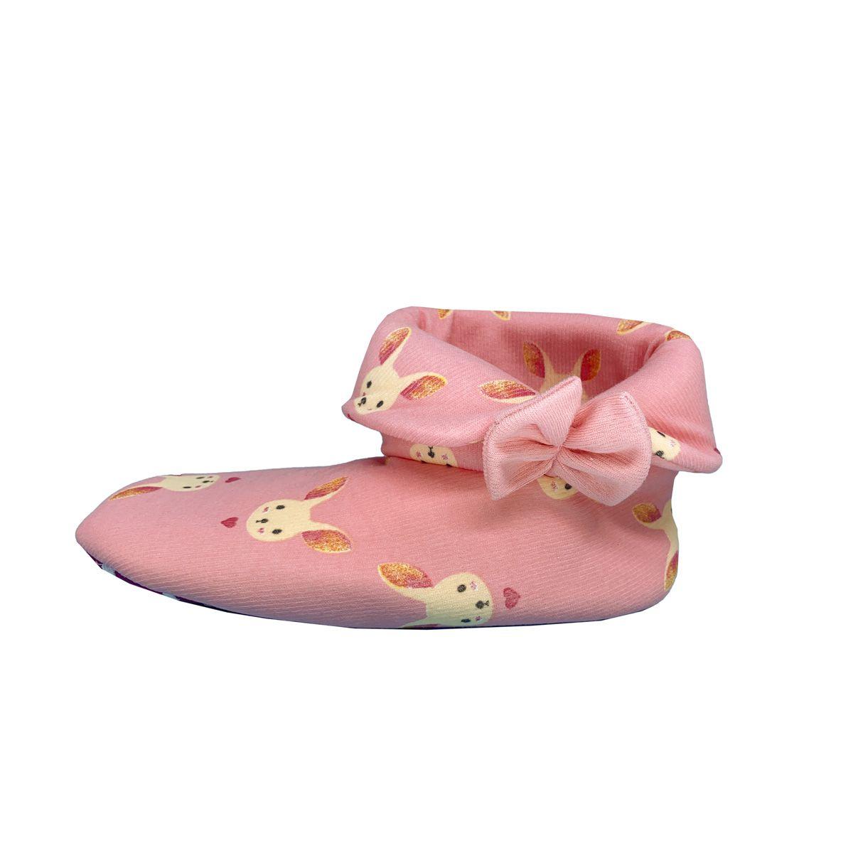 Pantufa feminina botinha de coelhinho Victory