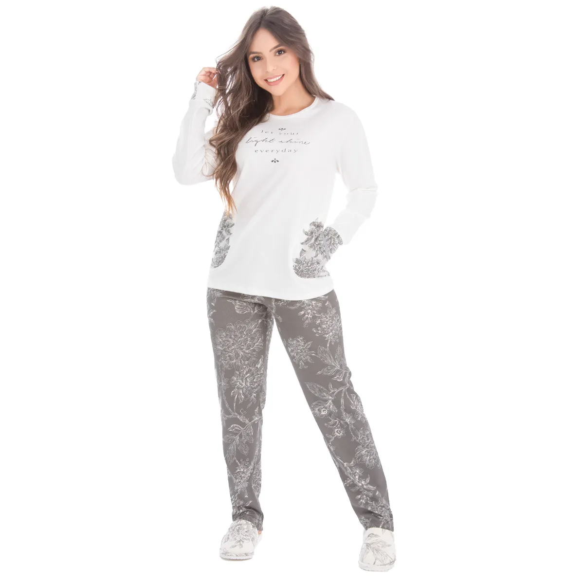 Pijama CASUAL feminino para o inverno Victory