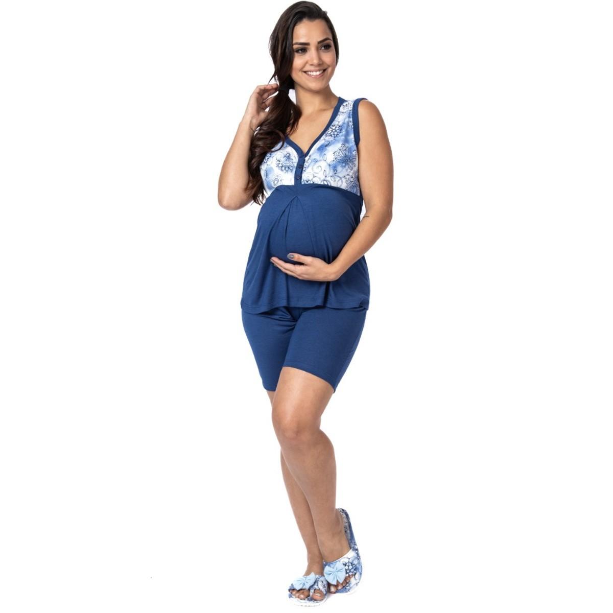 Pijama de gestante feminino para o verão Victory