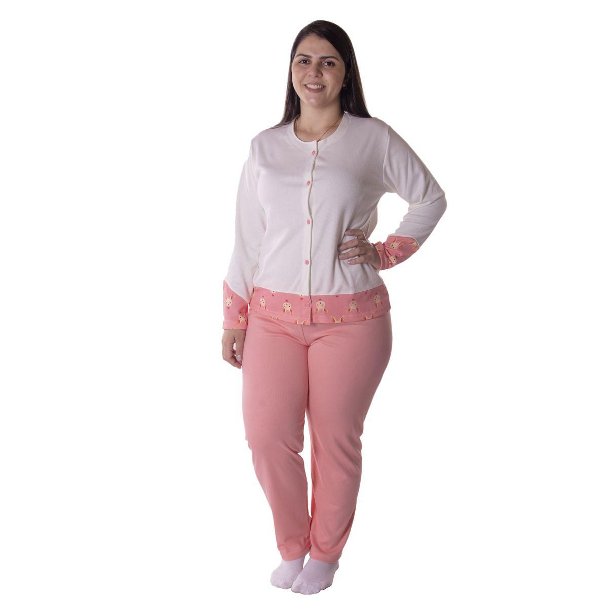 Pijama de inverno feminino CASAQUINHO Victory