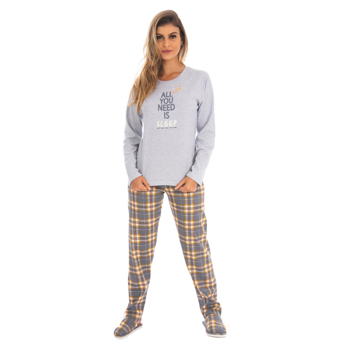 Pijama de inverno feminino Coleção Família Mãe Victory