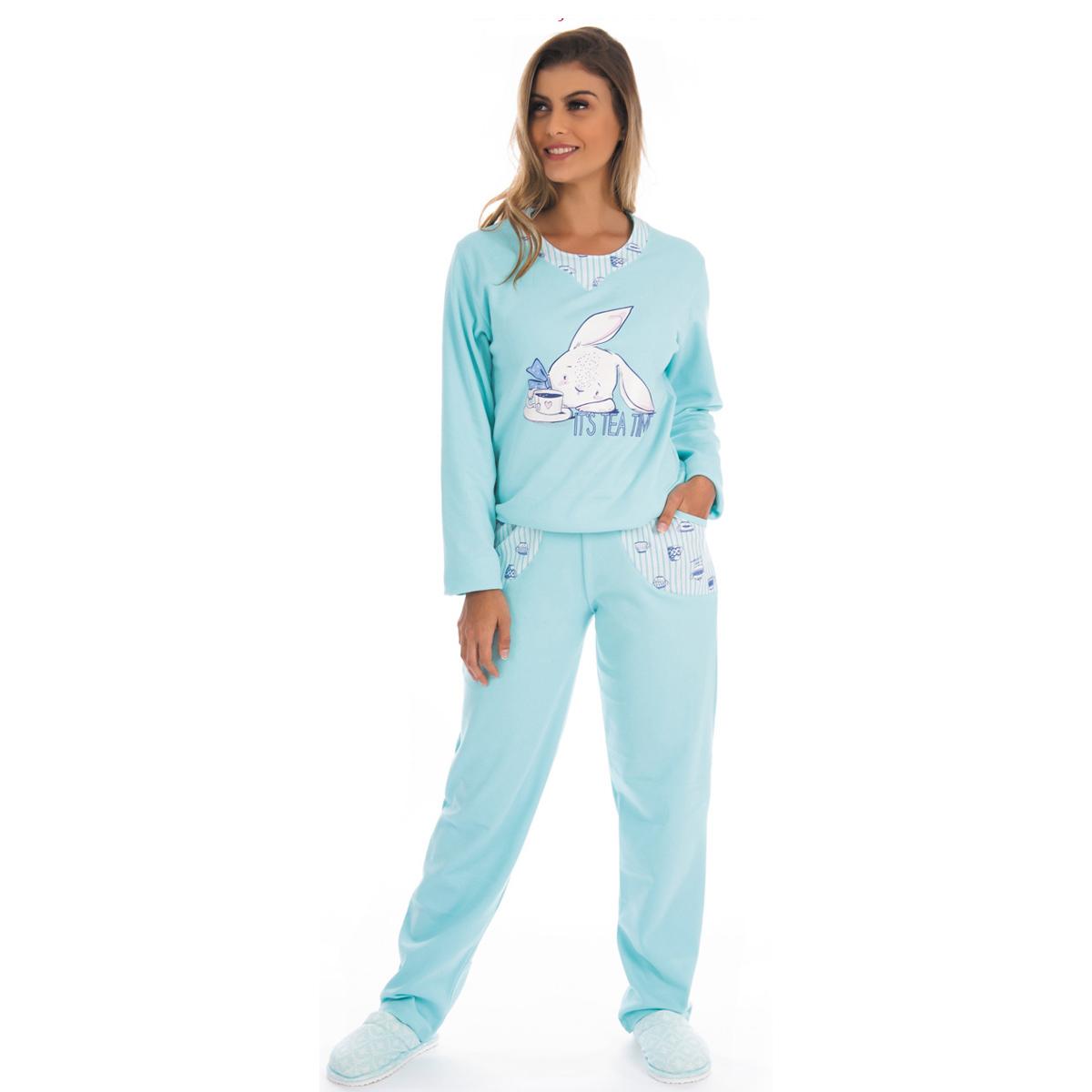 Pijama de inverno feminino PELUCIADO FOFUCHO Victory